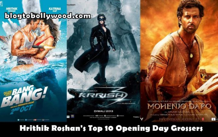 Hrithik Roshan's Top 10 Opening Day Grossers: From 2000 To 2016