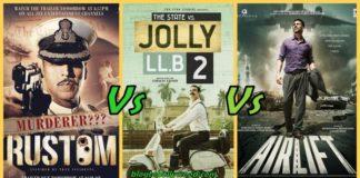 Jolly LLB 2 Vs Rustom vs Airlift Vs Housefull 3 Box Office Collection Comparison
