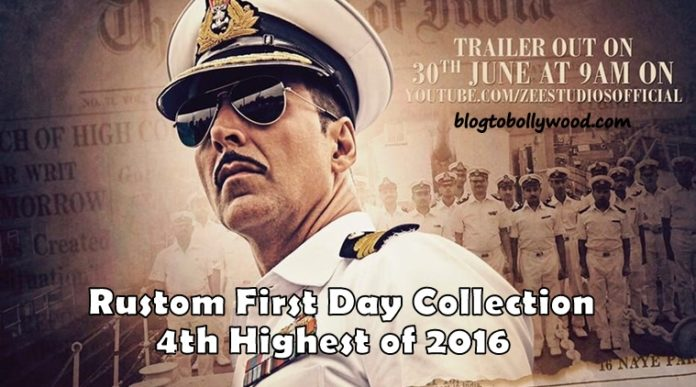 Rustom 1st Day Collection: First Friday Box Office Report