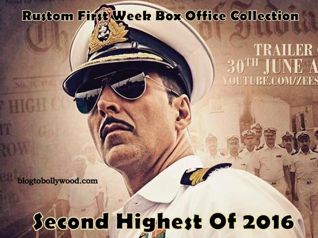 Official Report: Rustom 7th Day Collection, 2nd Highest Opening Week Grosser Of 2016
