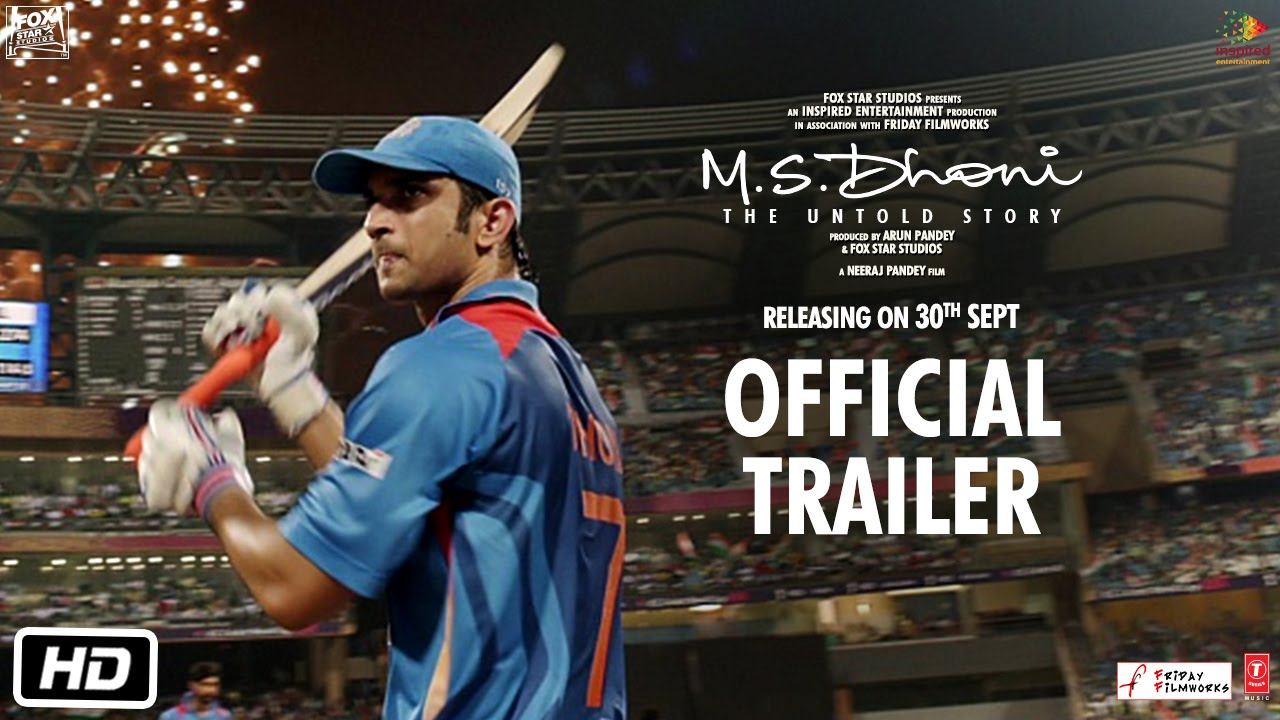 The Trailer Of 'MS Dhoni: The Untold Story' Is Out And It Will Give You Goosebumps