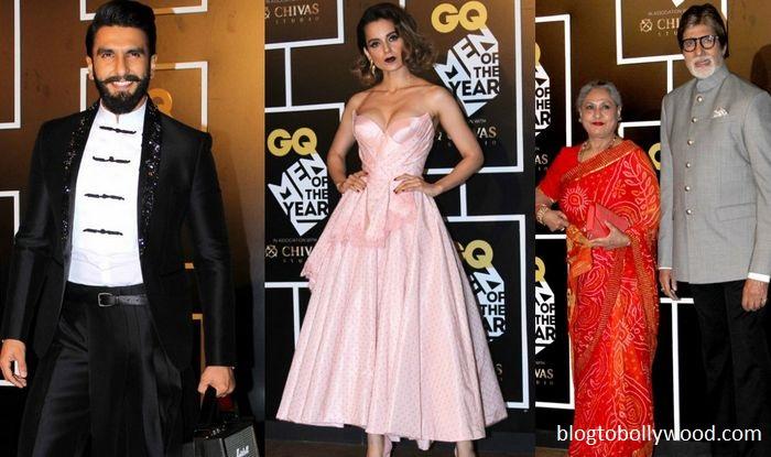 Ranveer Singh, Kangana Ranut and Big B win big at the GQ Awards, Men of the year 2016 yesterday.