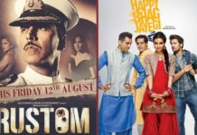 Rustom 3rd Week, Happy Bhag Jayegi 2nd Week Box Office Collection Report