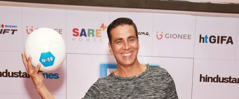 Akshay inaugurated the Great Indian Football in Delhi on Saturday