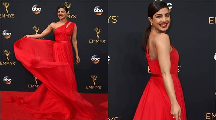 PeeCee looks ravishing in the twirling emoji gown at the 68TH Emmys awards