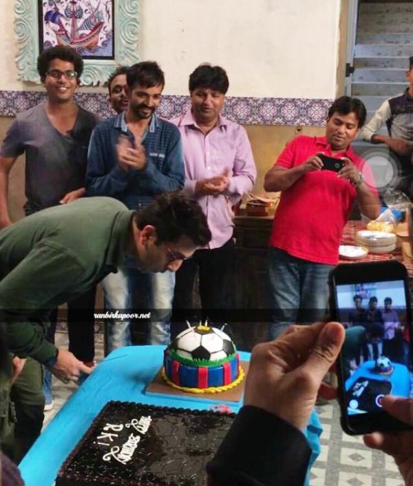 Ranbir Kapoor's birthday cake