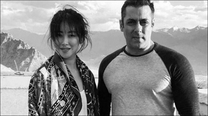 Salman Khan with Chinese actress Zhu Zhu