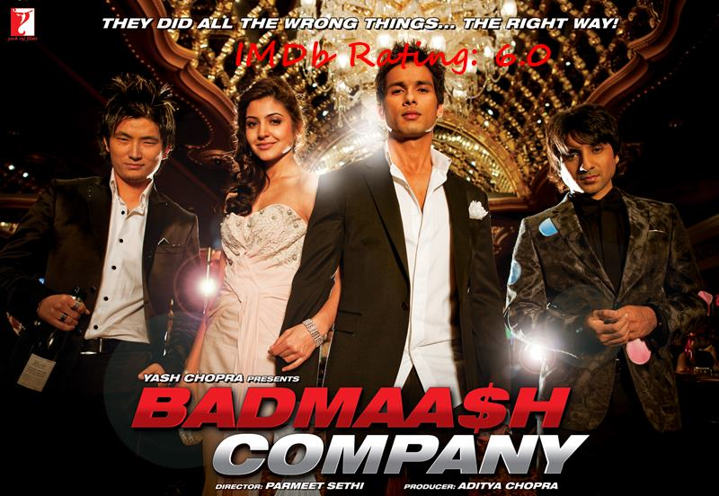 Top 10 Shahid Kapoor Movies Based on IMDb Ratings- Badmaash Company
