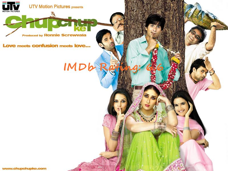 Top 10 Shahid Kapoor Movies Based on IMDb Ratings- Chup Chup Ke