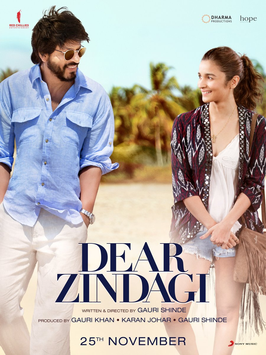 Dear Zindagi Second Poster Comes As A Breath Of Fresh Air On Monday