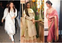 Diwali Outfits Bollywood Actresses