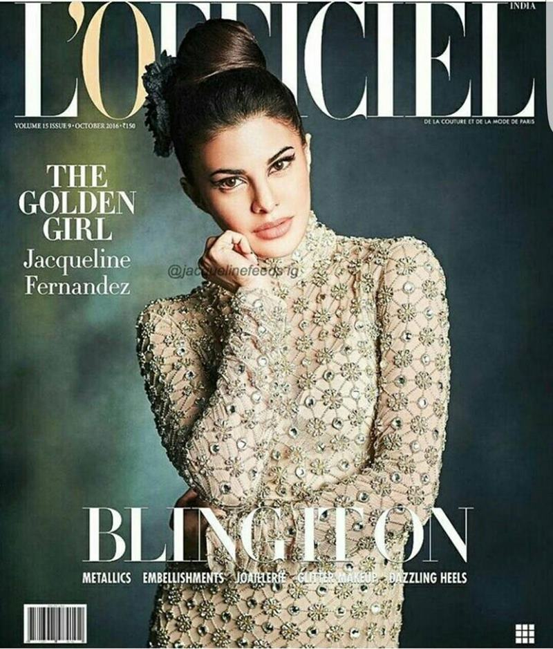 Jacqueline Fernandez blings in the new cover of L'Officiel India!