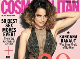 Kangana Ranaut on Cosmopolitan October Issue
