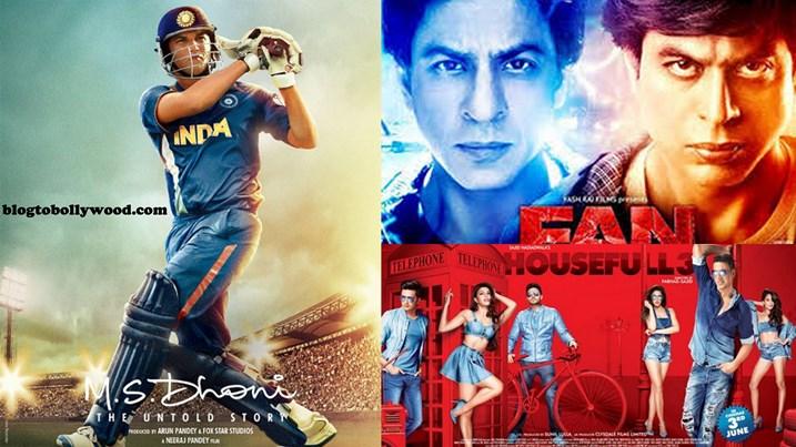 MS Dhoni: The Untold Story Beats SRK's FAN, Akshay Kumar's Housefull 3, Rustom and Airlift