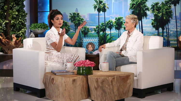 Priyanka Chopra on the Ellen Show for the first time, has a Tequila shot!