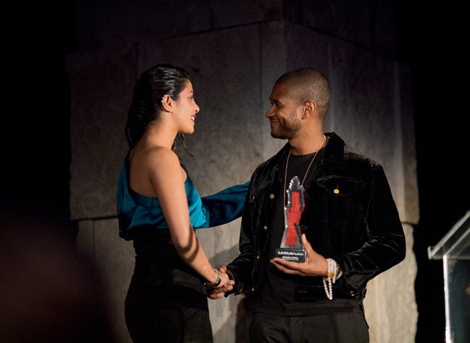 Priyanka and Usher at The InStyle Awards