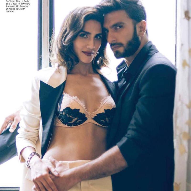 Hot Hot Hot! Ranveer Singh and Vaani Kapoor on Harper Bazaar Bride Cover are way too hot!- Ranveer Vaani