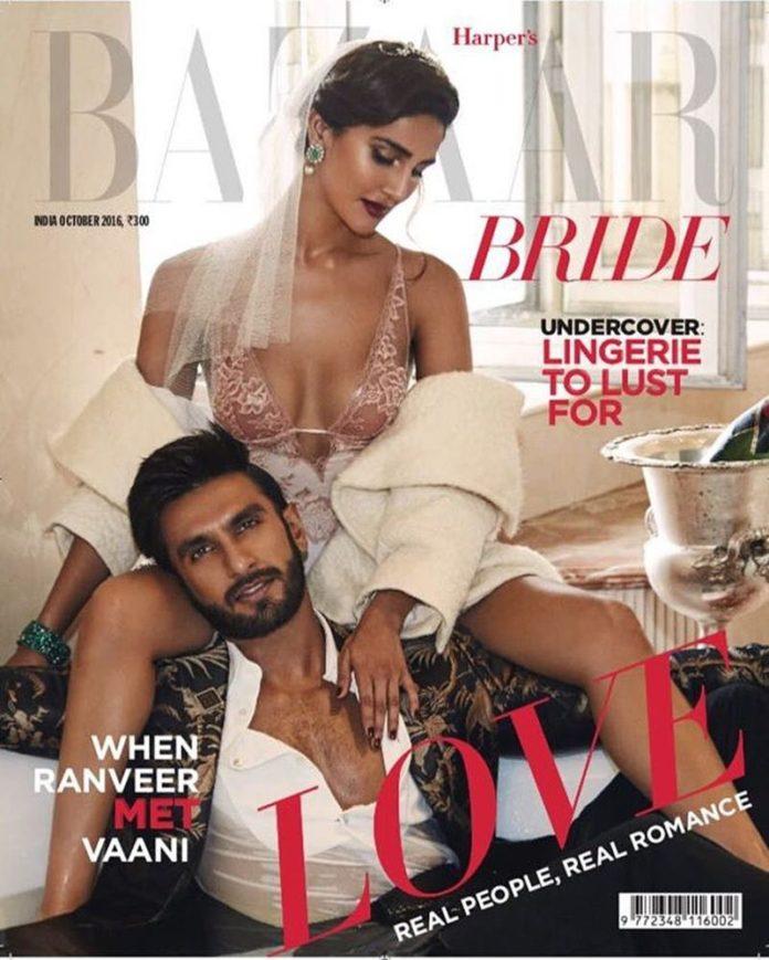 Hot Hot Hot! Ranveer Singh and Vaani Kapoor on Harper Bazaar Bride Cover are way too hot!