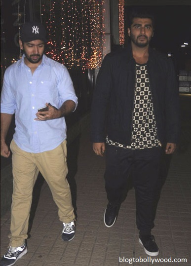 Arjun Kapoor arrives for the screening of 'ADHM'