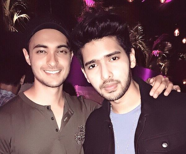 Aayush Sharma with singing sensation Armaan Malik