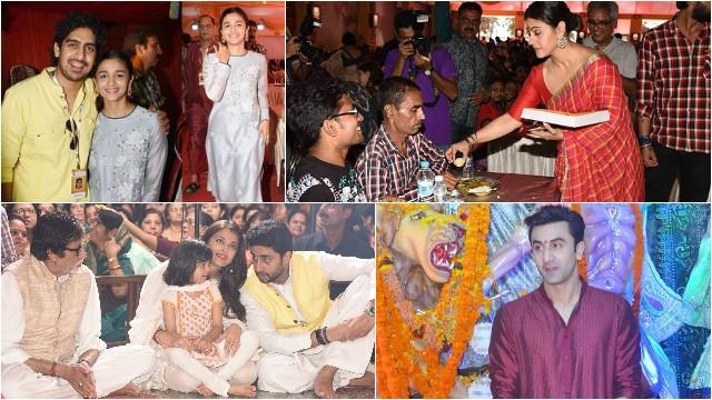Pics: Bollywood celebrates Durga Pooja