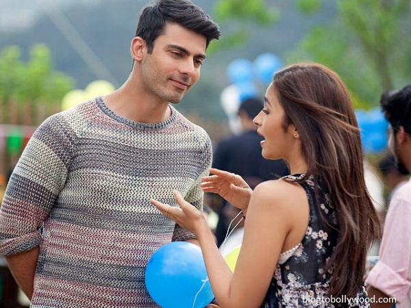 Fawad Khan and Alia Bhatt in 'Kapoor and Sons'