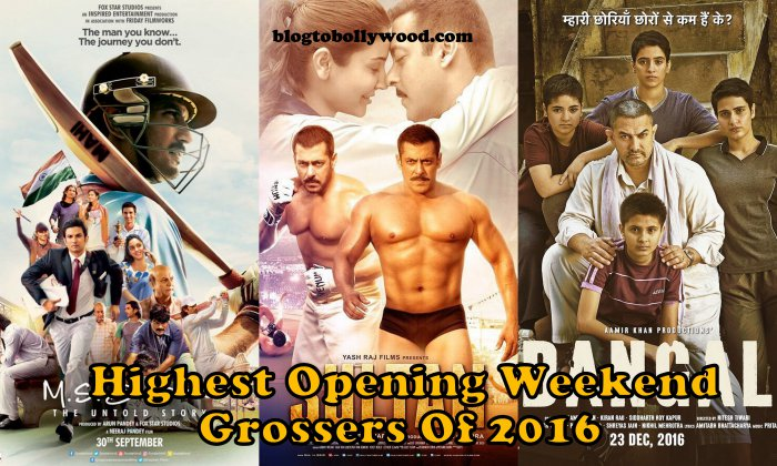 Top Opening Weekend Grossers Of 2016 | Highest Opening Weekend Collection Bollywood 2016