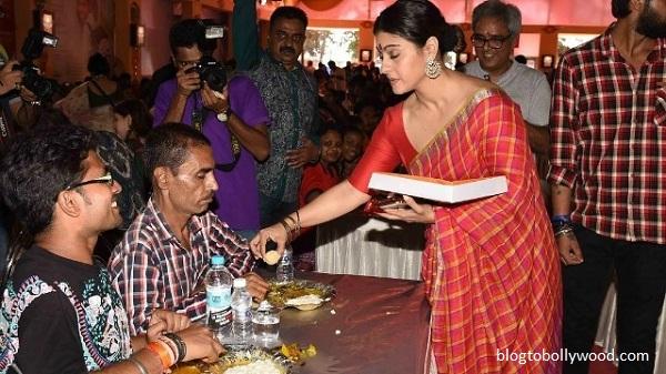 Pics:Bollywood celebrates Durga Pooja - Kajol
