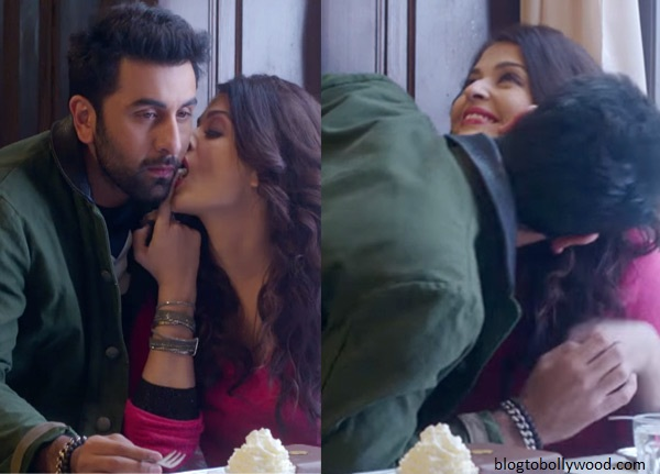 A romantic scene between Ranbir-Aish in 'ADHM'
