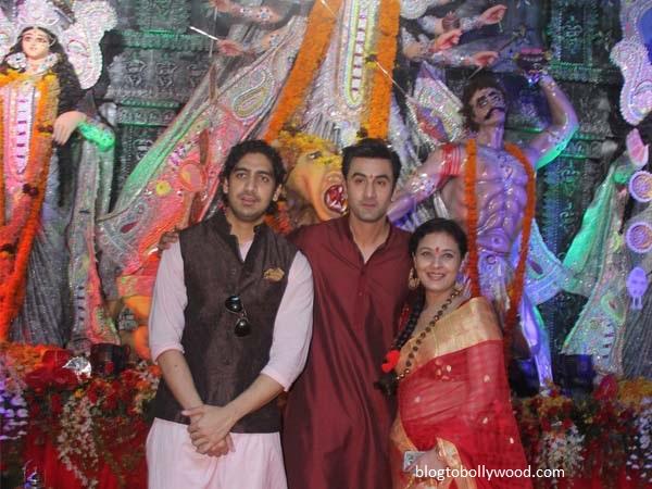 Bollywood celebrates Durga Pooja - Besties Ayaan Mukherjee and Ranbir Kapoor pose together