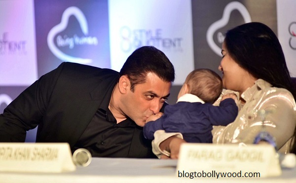Salman Khan with sister Arpita Khan Sharma and nephew Ahil Sharma