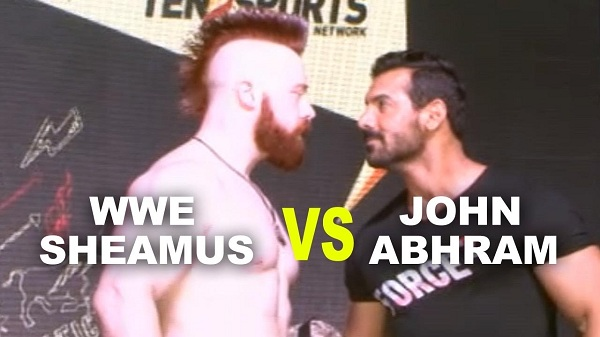 Pics: John Abraham and WWE Superstar Sheamus in Mumbai!