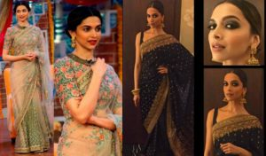 Bollywood actresses in sarees: Deepika