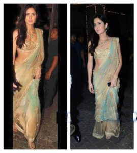 Bollywood actresses in sarees: Katrina