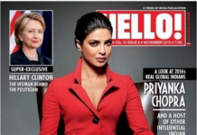 Priyanka Chopra Hello! magazine Cover