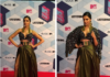 Deepika Padukone nails it at the MTV EMA in the brallete and high slit look with killer black heels