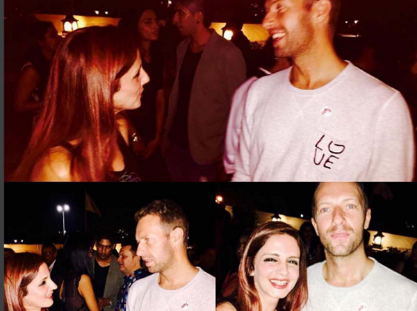 Sussanne Khan was caught in a chatty mood with Chris Martin