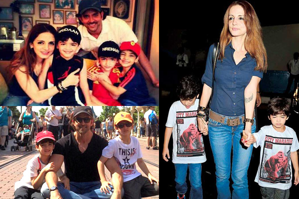 Hrithik Roshan And Sussanne Khan Had Gala Time With Kids In Dubai