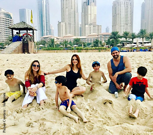 Photo - Hrithik Roshan And Sussanne Khan Had Gala Time With Kids In Dubai