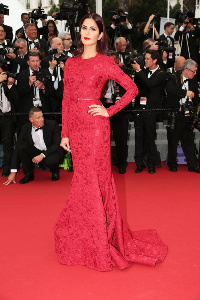 International red carpet appearances by Bollywood actresses: Katrina