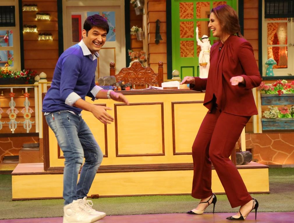 Akshay and Huma at TKSS 2