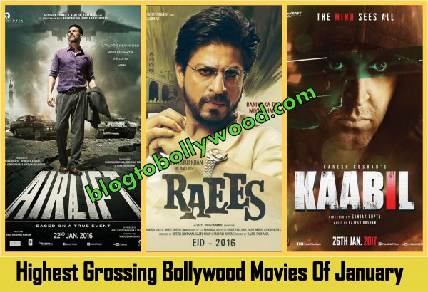Top 10 Highest Grossing Bollywood Movies Of January