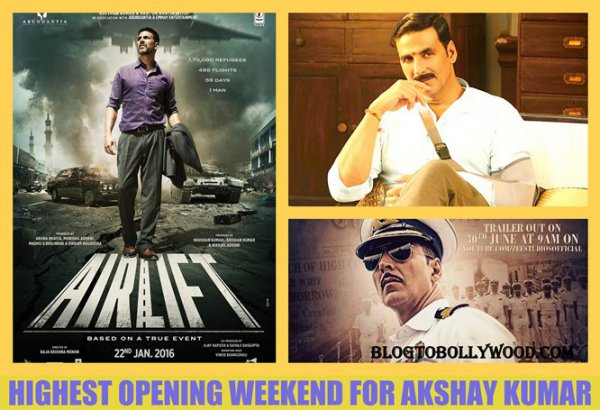 Highest Opening Weekend Grosser For Akshay Kumar