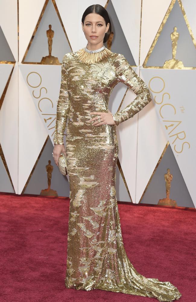 Celebrities Style Files Oscars 2017 - Jessica Biel