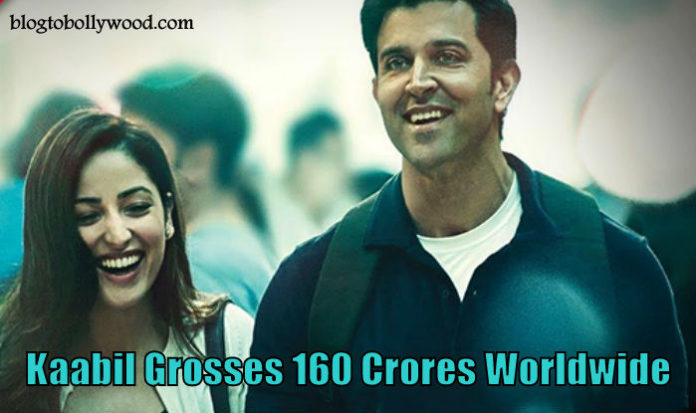 Kaabil Worldwide Collections: Hrithik Roshan's Film 160 Crores At Worldwide Box Office