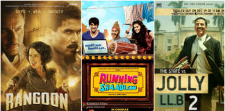 Bollywood Box Office Report Feb 2017: Jolly LLB 2 Hit, Rangoon Dismal,The Ghazi Attack Surprise Hit