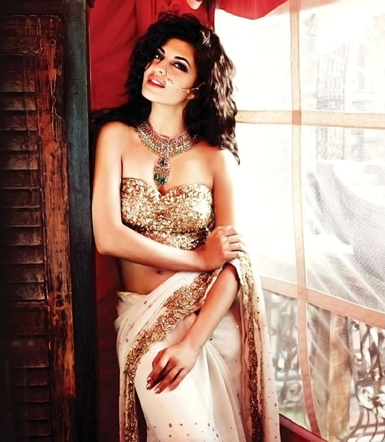 Jacqueline Fernandez hot in saree