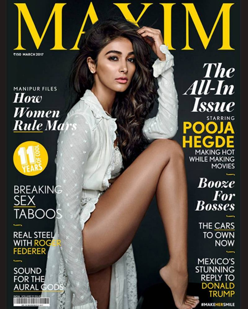 This hot Maxim photoshoot of Pooja Hegde sheds her girl-next-door image- Cover