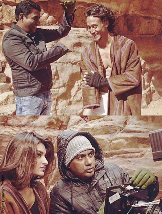 Tiger Shroff and Hot Niddhi Aggerwal On The Sets Of Munna Michael