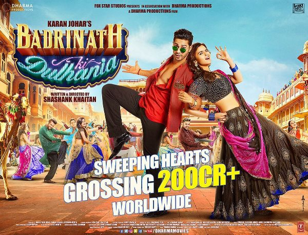 Badrinath Ki Dulhania Grosses 200 Crores Worldwide, Biggest Hit For Varun Dhawan & Alia Bhatt